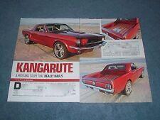 "1965 Mustang Custom Australian Ute Article ""Kangarute"" Pickup"