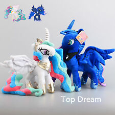 2X My Little Pony Princess Celestia & Luna Nightmare Moon Plush Toy Soft Doll