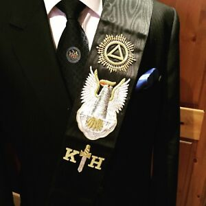 Masonic  30th degree Rose Croix  sash collarette and Jewel