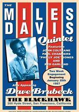 Miles Davis repro Tour Blackhawk POSTER