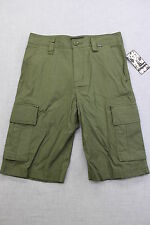 HURLEY Rare Mens MILITARY GREEN OFFICER 6 POCKET CARGO SHORTS NWT Size 29  $62