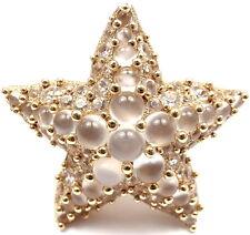 New! Authentic Pomellato Sirene 18K Yellow Gold Moonstone Starfish Ring Box/Cert