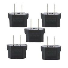 New 5pcs Euro EU To US USA AC Power Travel Charger Adapter Converter Plug Outlet