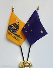 Gadsden & Alaska Double Friendship Table Flag Set