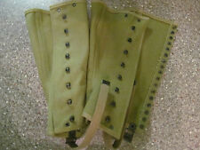 (NO LACES) WWII WW2 US ARMY M1938 CANVAS LEGGINGS SPATS GAITERS SIZE 3R REPROS