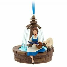 RARE Disney Store Belle Singing at Fountain Sketchbook Ornament Christmas HTF