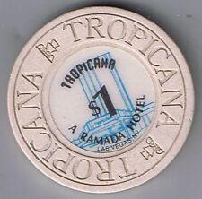 Tropicana A Ramada Hotel $1.00 House Mold With Fountain Casino Chip Las Vegas Nv