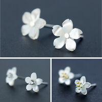 Ohrstecker Kirschblüte echt Sterling Silber 925 Perlmutt Zirkonia Ohrringe
