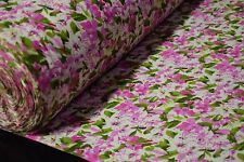 Quilt Fabric Pink Azalea Floral Print Craft Apparel By The Yard 45