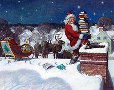 Newell Convers Wyeth Santa Print 11 x 14  #3370