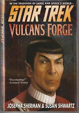 "Hardcover Star Trek Novel ""Vulcan's Forge"" Pocket Books 1997 ""Spock Cover"""