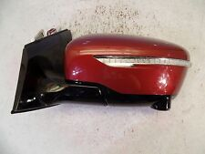 OEM USED NISSAN MURANO 15 16 17 POWER DOOR MIRROR WITH CAMERA SIGNAL LH RED