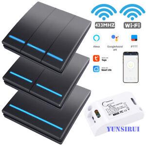 Tuya Smart Life APP WiFi Push Switch Light RF 433Mhz Wall Remote 110-220V Module