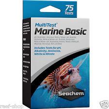 Seachem Marine Basic Multi Test Kit pH Alkalinity Ammonia Nitrite Nitrate