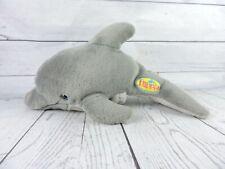 "Vintage 1993 Flipper Dolphin Plush 14"" Rare Stuffed Animal Puppet Sea Life Toy"