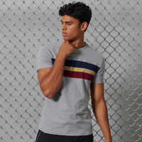 Superdry Tshirt Mens R & P Chestband Tee - Collective Dark Grey Grit
