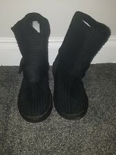Black Ugg Cardy Knee Length Ladies Boots in  UK 6.5