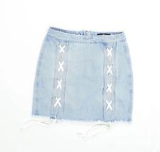 Missguided Womens Size 8 Denim Blue Skirt (Regular)