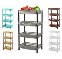 Strong 4 Tier Vegetable Rack Fruit Storage Kitchen Utility Stacking Basket