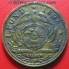 SOUTH AFRICA 1896 ONE 1 POND ZUID KRUGER CASINO COIN CHIP TOKEN BRASS 3.8gr 22mm