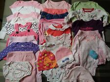 Lot of 25 pieces, girls 0-3 months clothing outfits.