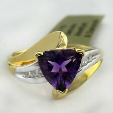 ALEXANDRITE 1.24 Cts & GENUINE DIAMONDS RING 10k GOLD *** Made In USA ***
