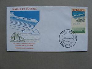 WALLIS AND FUTUNA, cover FDC 1975, aviation first regular flight Noumea