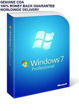 Microsoft Windows 7 Professional SP1 COA Product Key 32/64 Bit Genuine+PC Parts