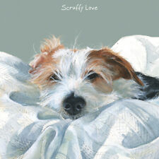 Scruffy Love Jack Russell Little Dog Laughed Greeting Card Blank Inside