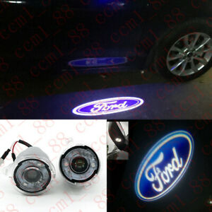 2x Ghost Shadow LED Side Rear View Mirror Puddle Lights For Ford F-150 2004-2014