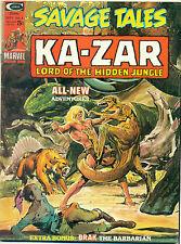SAVAGE TALES #6 (1974) Marvel Comics B&W Ka-Zar Neal Adams Brak Al Williamson