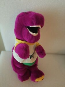 Vintage Barney the Purple Dinosaur Plush w/Original T-Shirt -1992 - Dakin