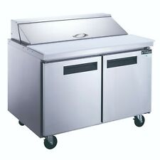 New Dukers Dsp48 12 S2 2 Door Ss Commercial Food Prep Table Refrigerator In