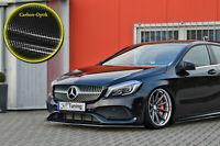 Spoilerschwert Frontspoiler ABS Mercedes A-Klasse W176 AMG-Line Carbon Optik