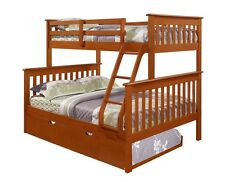 Twin over Full Bunk Beds for Kids with Trundle Bed