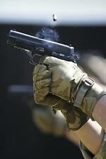 RAF Regiment Gunner 7 Force Protection Firing Sig Sauer Pistol Photo 12x8 Inch