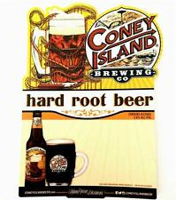 "Coney Island Brewing Co NY Hard Root Beer Travel Sticker Decal 4.5"" x 7"""
