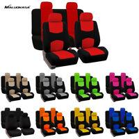 9 partes de fundas de asiento de coche universales delantero conjunto de trasera