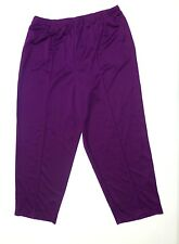Blair Womens Size 20PT Purple Elastic Waist Sewn In Front Seam Pants New