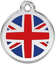 Red Dingo Médaille pour Chien Motif Drapeau Anglais 20 mm