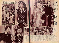 1956, PARIS-CANAILLE Dany Robin Daniel Gelin Japan Vintage Clippings 1ss9
