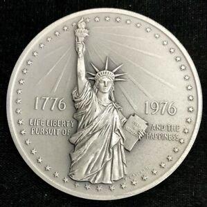 1976 SILVER MASSIVE 8.72 OZS USA MINT MADE BICENTENNIAL MEDAL BOX'S & COA