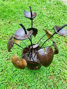 Natural Coconut Shell Handmade Home Decoration Eco Friendly Anthurium Flower Vas