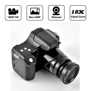 Digital Camera 3 Inch TFT LCD  HD 24MP 1080P 16X Zoom Anti-shake Mic Black NEW