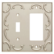 Switch Decorator Wall Plate Nickel French Lace Brainerd W10697