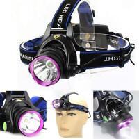 3000 Lumen XM-L T6 LED Rechargeable Headlamp Headlight Head Torch Lamp Light GA