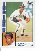 JULIO FRANCO 1984 TOPPS BASEBALL CARD 48 CLEVELAND INDIANS