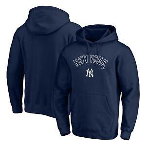 New York Yankees Fanatics Branded Team Logo Lockup Pullover Hoodie - Navy