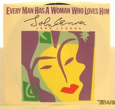 """John Lennon """"Every Man Has a Woman Who Loves Him"""" 1984 Polydor 45rpm w/ PS"""