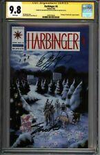 * HARBINGER #4 (1992) CGC 9.8 Signed Shooter Layton Pre-Unity (1600103024) *